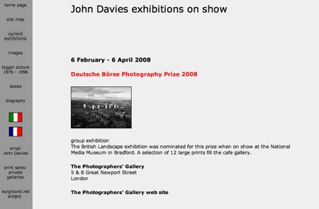 John Davies website (detail) © John Davies