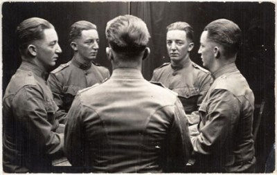Unknown Untitled [Man reflected in mirrors], n.d.; photograph; gelatin silver print; Collection SFMOMA, Gift of Gordon L. Bennett