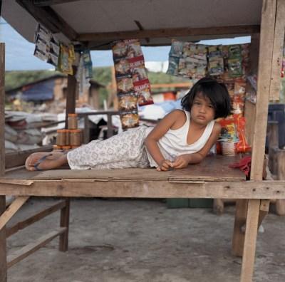 Survivors often set up small shops called sari-sari stores. Anibong, Tacloban. January 6, 2014.