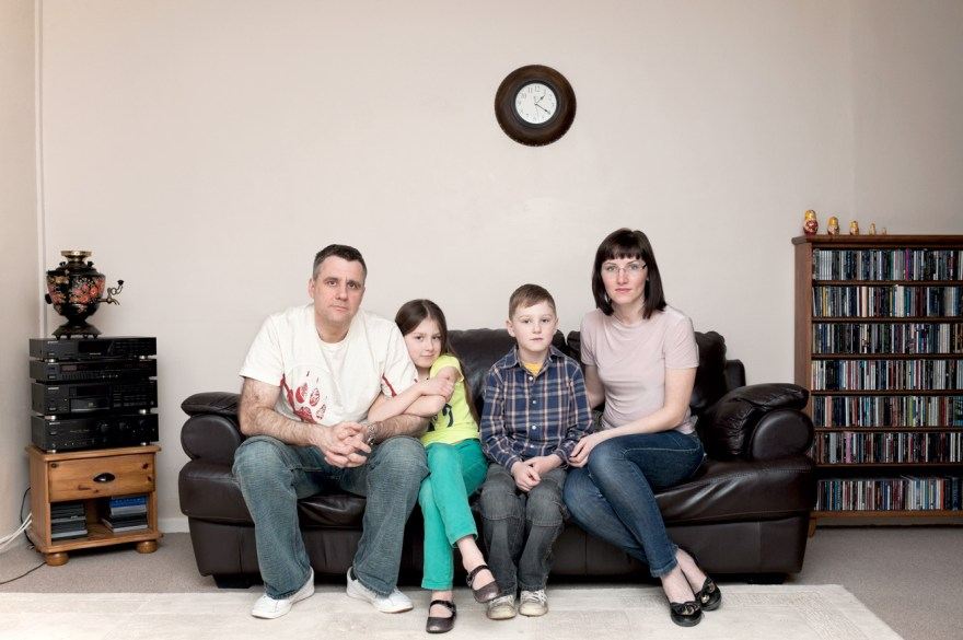 Uliana from Sankt-Petersburg in Russia, her husband Adam from Bialystok in Poland and their kids Arsen and Lija. I photographed them in Aberdeen where they are living and working for about 6 years now. Adam is a lifeguard and Uliana is decorating private houses and offices across Aberdeenshire with a custom murals. They all speaking fluent Russian and Polish at home and English at work and school. It is worth of mentioning that Uliana had a Jewish grandfather and Adam ancestors were from Roma community.