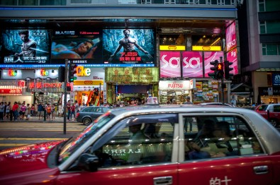 Two different malls, a duty-free store and a camera shop are packed into the first three floors of Chungking Mansions. The new façade is part of an attempt by the building's owners to pull away from its seedy reputation.