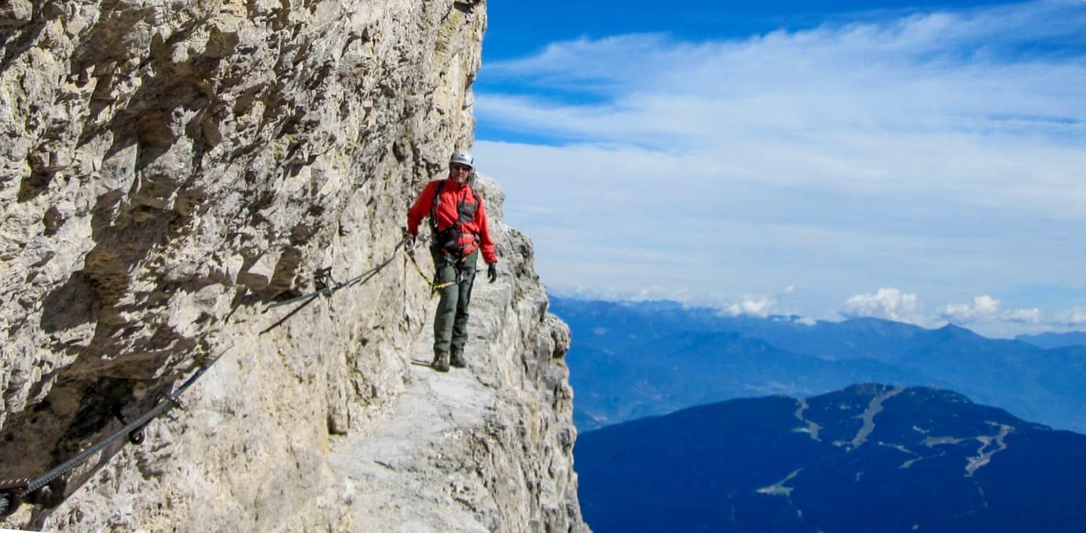 Io sulle Bocchette Centrali - Dolomiti di Brenta