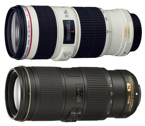 Canon及Nikon的70-200mm f/2.8 為著名的長焦鏡頭