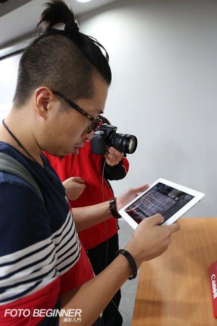 EOS 70D也內置Wi-Fi功能,透過iPad可以即時看到及拍攝相片,非常方便好用!