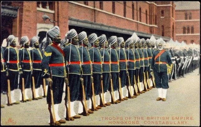 Hong Kong Police Troops (Constabulary) British Empire 1910s.