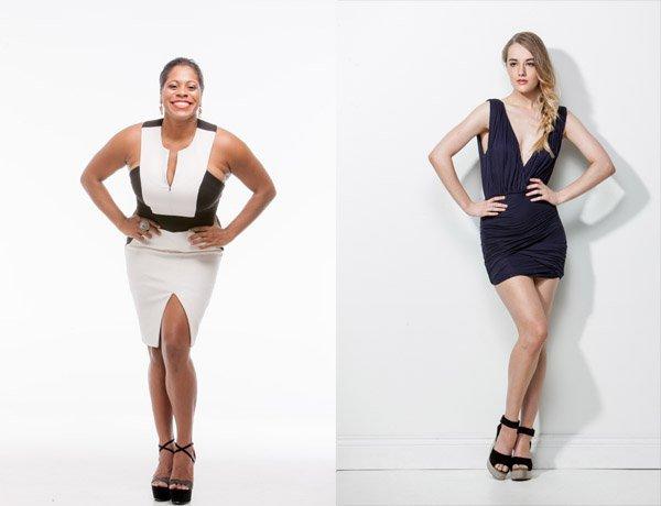 對於女性model,雙手放在hip位可以讓腰部顯得更細!必用啊! Model: Shareena Clanton/Foxtel (左) Piperlane (右)