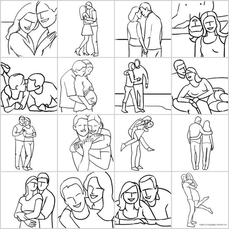21個供人像拍攝的姿勢參考 - 情侶篇