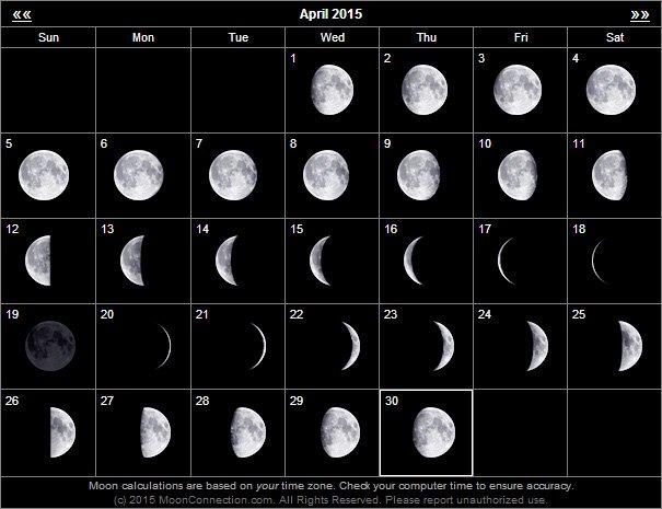 {link:http://www.moonconnection.com/}moonconnection.com{/link} 可以看到不同日子的月圓情況