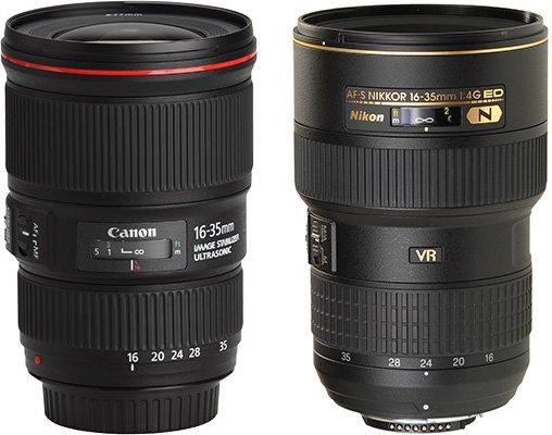 Canon、Nikon 等很多廠商也有生產專業的超廣角鏡頭。