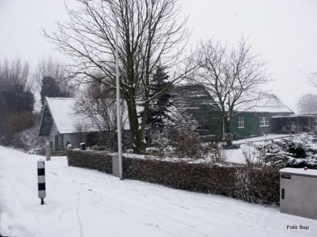Vierambachtsweg in wintertijd. foto Bep Rodenburg.