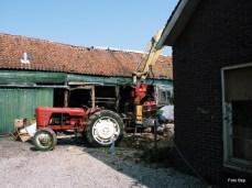 Achterzijde Raam was vroeger kantoor Boot Houten schepenbouw.
