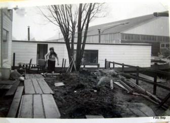 Hier gingen we van de alle ark naar de nieuwe dat was in 1964