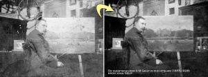 oude foto restaureren zeer gedetailleerd
