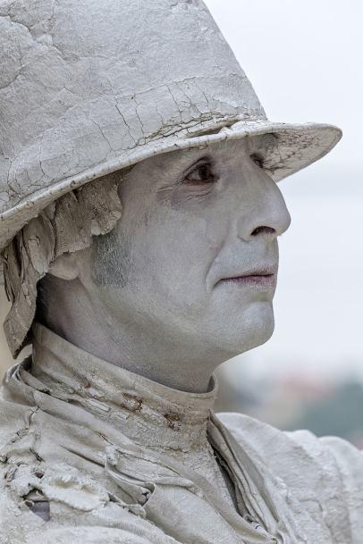 Lebende Statue - Johannes Heumann