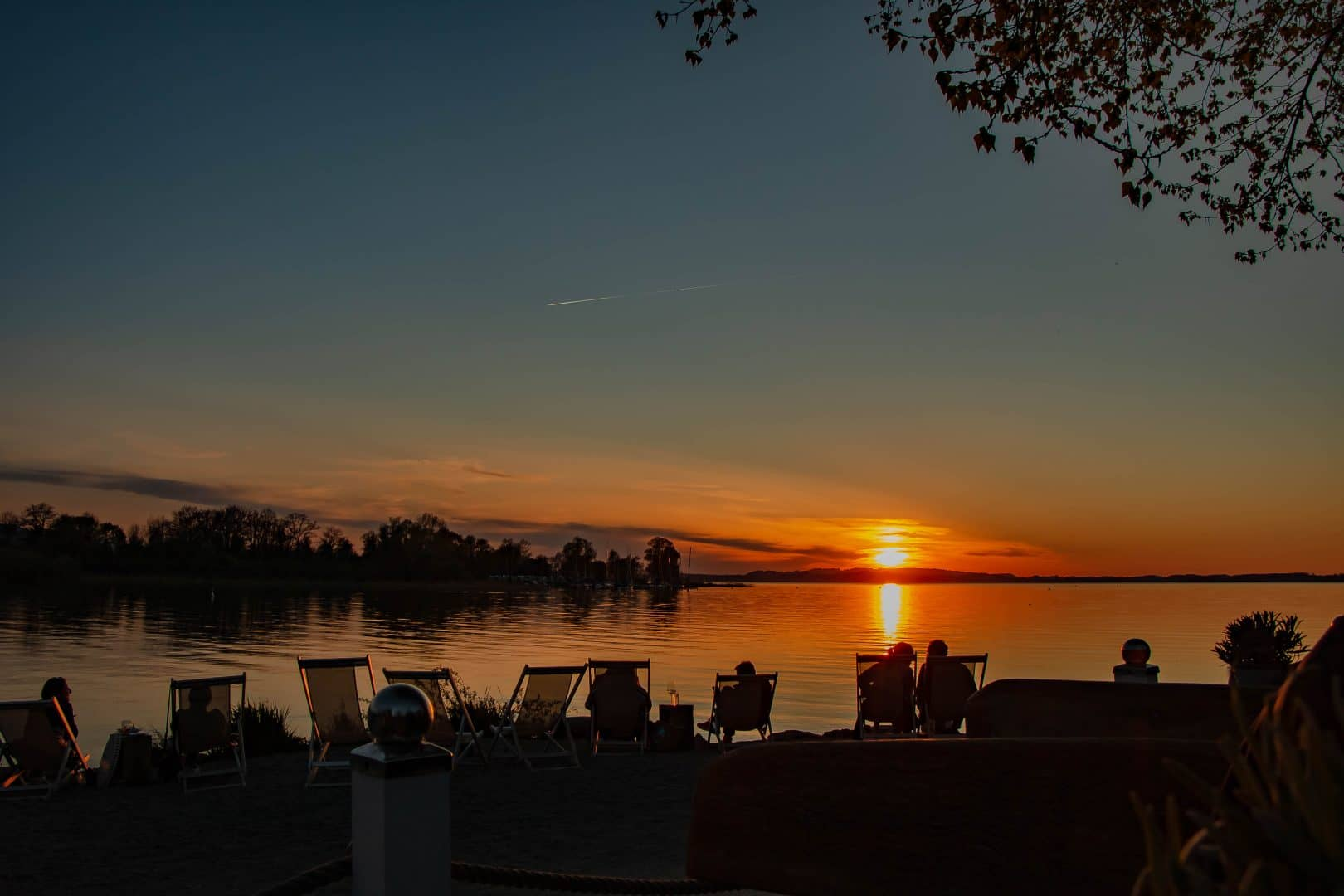 Sonnenuntergang Übersee am Chiemsee - von Andrea Seiss