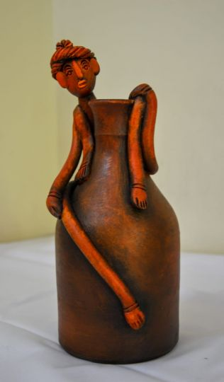 Handcrafted Face Pot