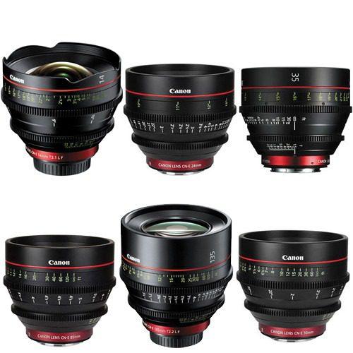 Canon Cinema EF Primes Bundle 14/24/35/50/85/135F Lenses