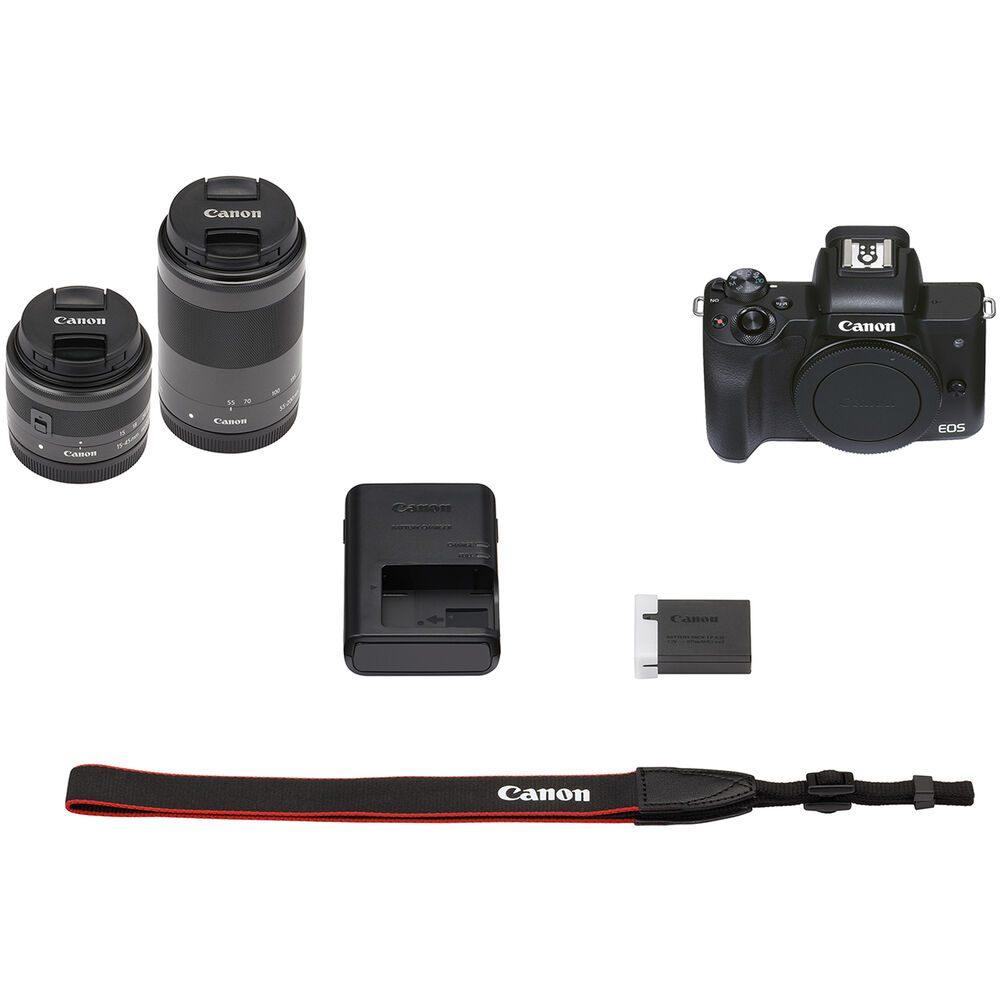 Canon M50 Mkii 15 45 55 200