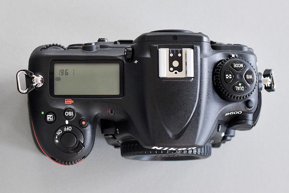 Nikon D500 von oben