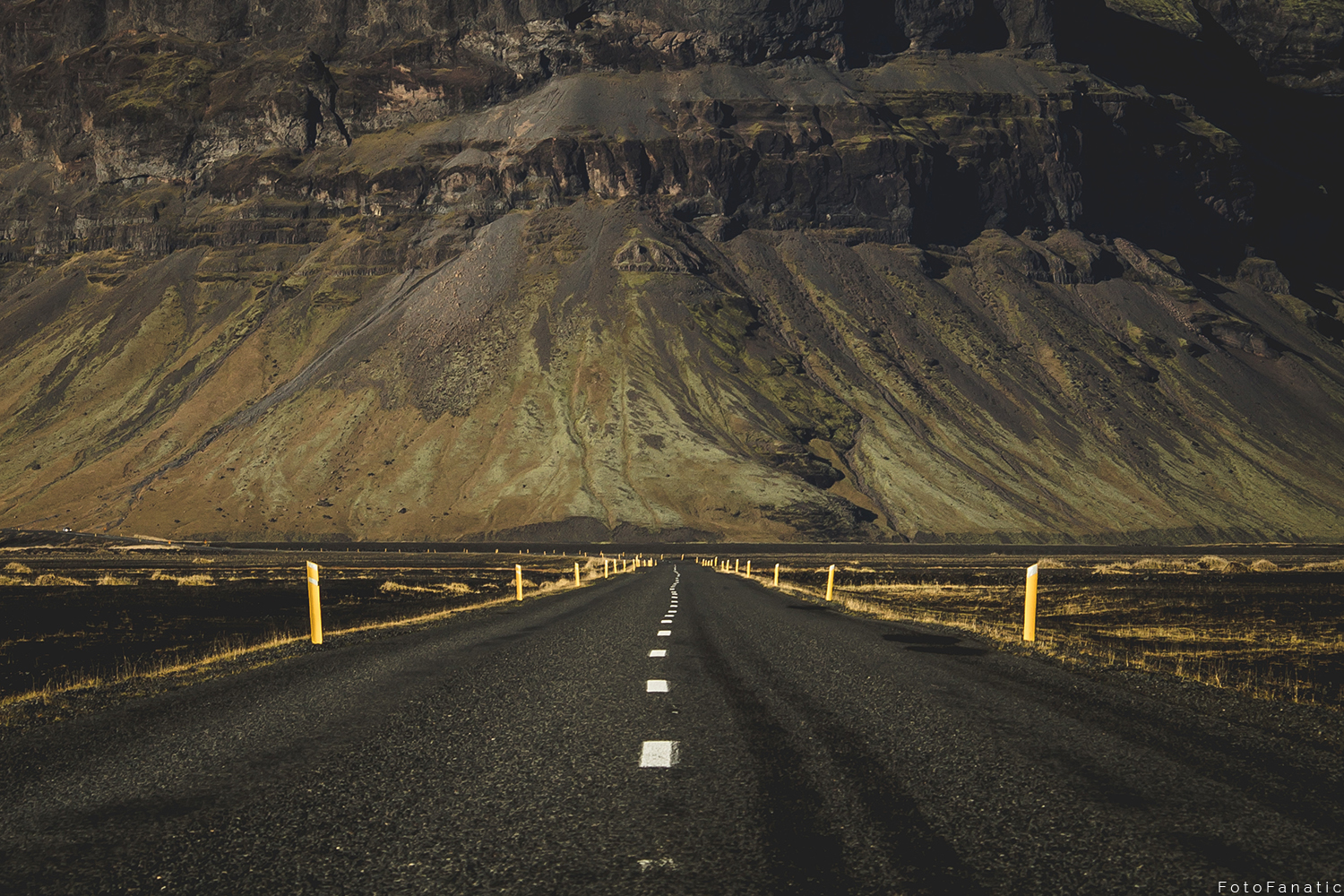 Iceland Road wall mountain