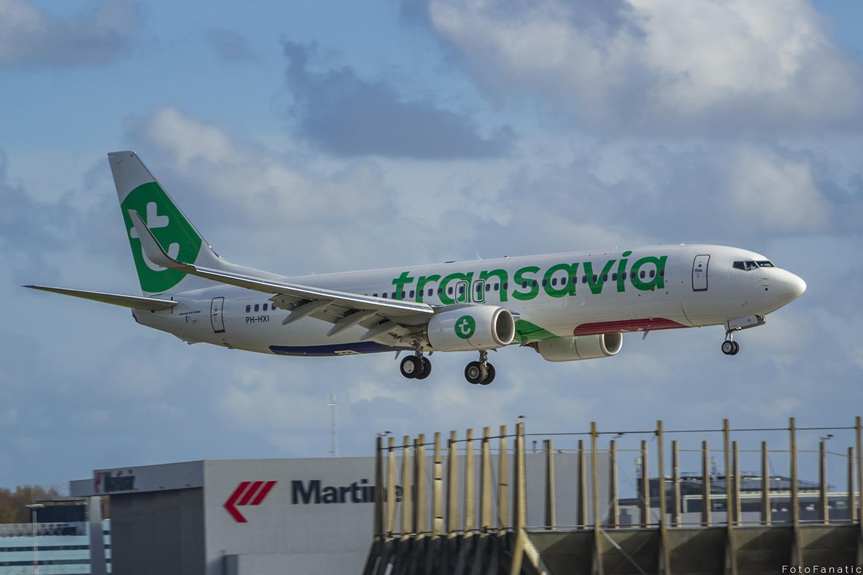Transavia boeing plane schiphol PH-HXI