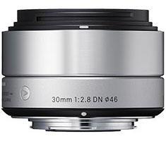 Sigma MFT 30mm F/2.8 zilver ART DN voor Panasonic G, Olympus MFT