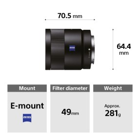 Sony FE 55mm F/1.8 ZEISS Sonnar T*