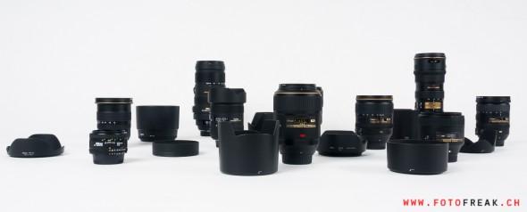 Objektive von Nikon und Sigma für Nikon Kameras