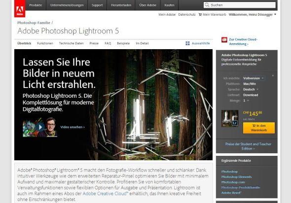 Adobe Lightroom 5 - Homepage