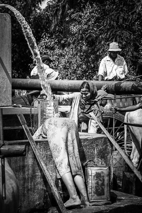Wassertransporter in Myanmar