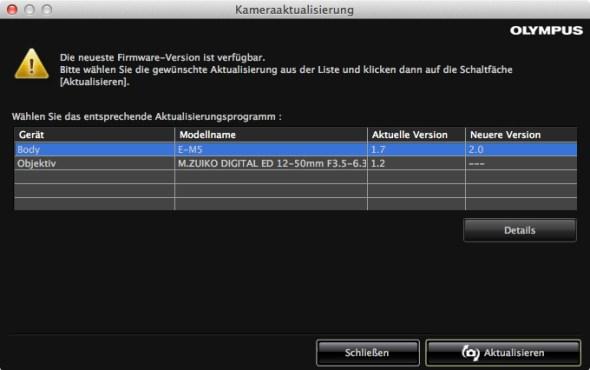 Olympus OM-D E-M5 Firmware 2.0