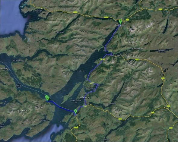 Schottland Karte - Tag 10