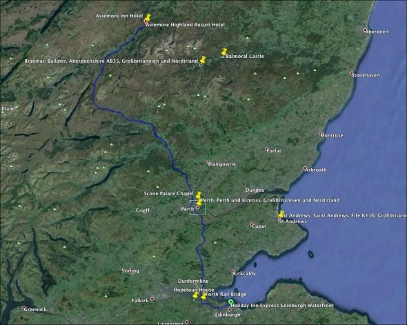Schottland Karte - Tag 2