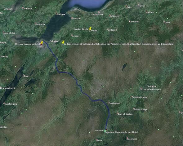 Schottland Karte - Tag 3