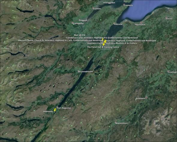 Schottland Karte - Tag 4