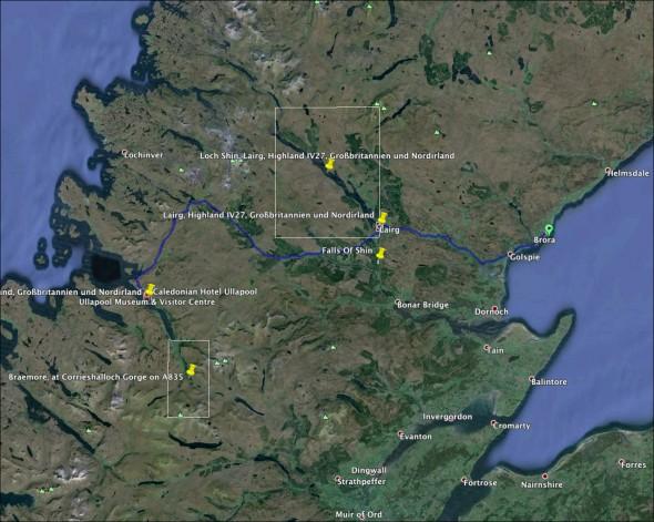 Schottland Karte - Tag 6