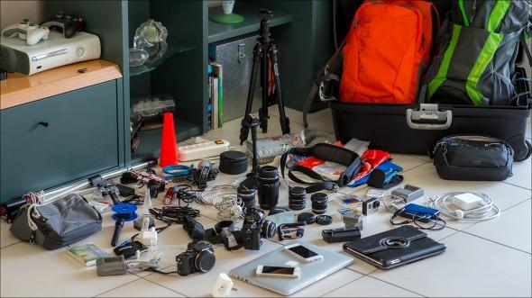 Technische Gerätschaften eines Fotofreaks