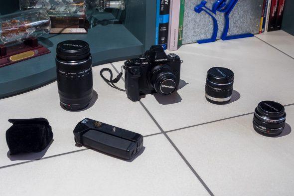 Olympus BackUp Kamera und die wichtigsten Objektive