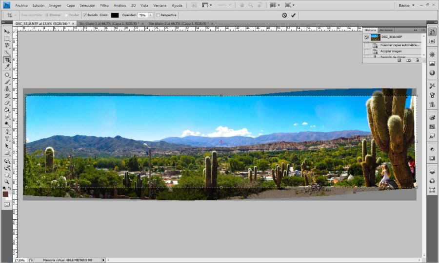 Panorama con Lightroom y Photoshop