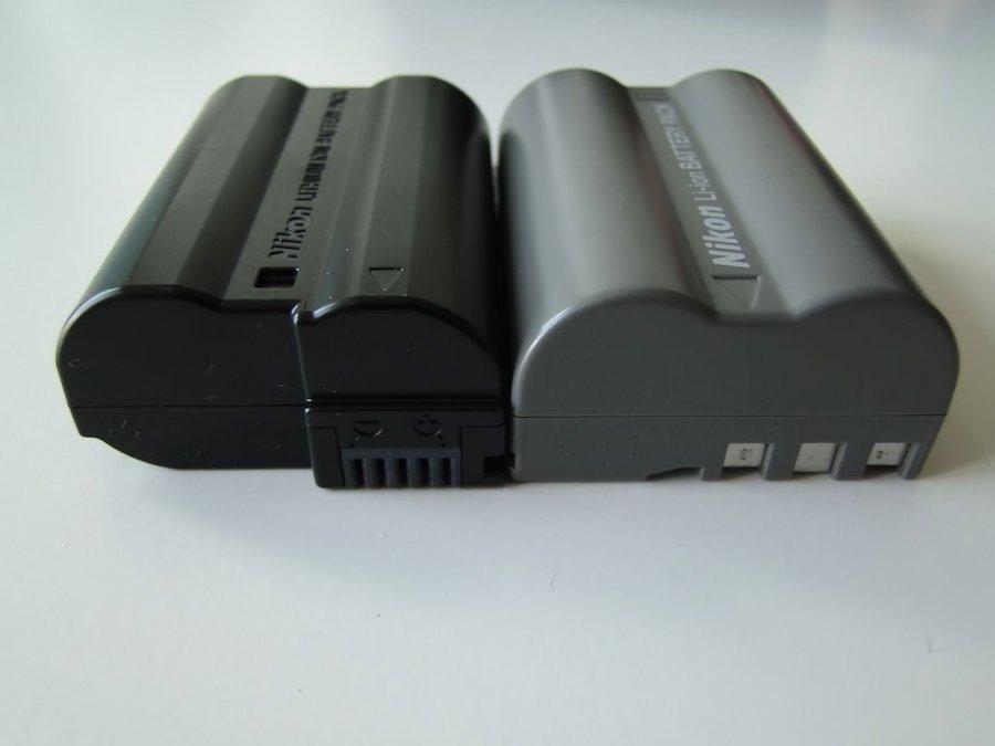 Nikon D7000 batería EN-EL15 vs EN-ELe3