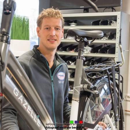 foto van eigenaar fietsenzaak