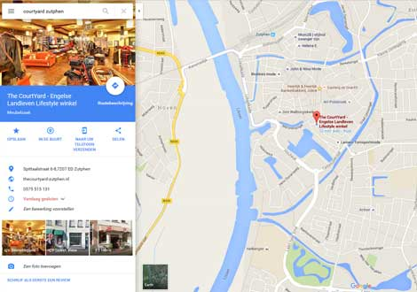 Winkel-op-Google