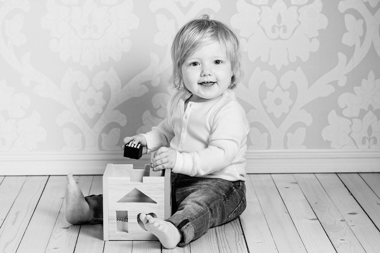 Barnefotografering Barn gutt ett år fotograf Elverum