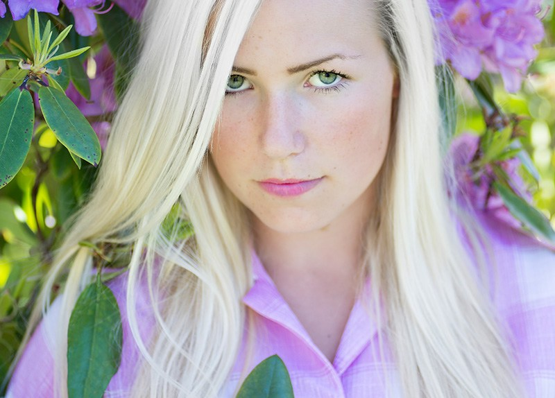 Portrettfoto av Malin i Åseral-3