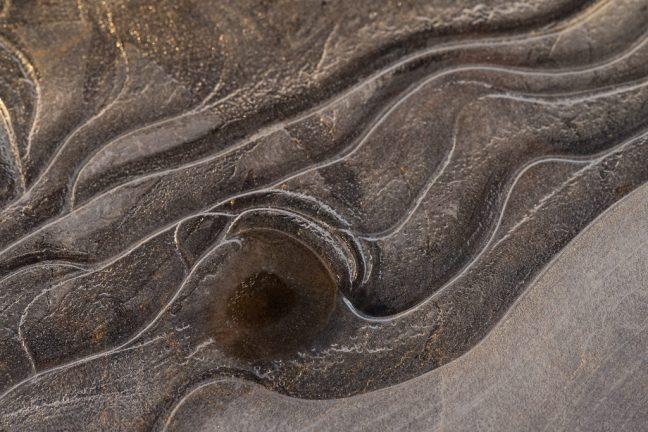 vormen en lijnen in het ijs