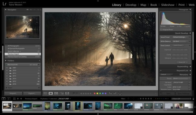 Lightroom back-up systeem
