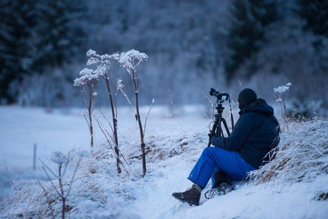 Pieter aan het fotograferen