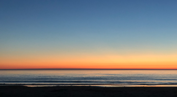 zonsondergang zonder groene flits