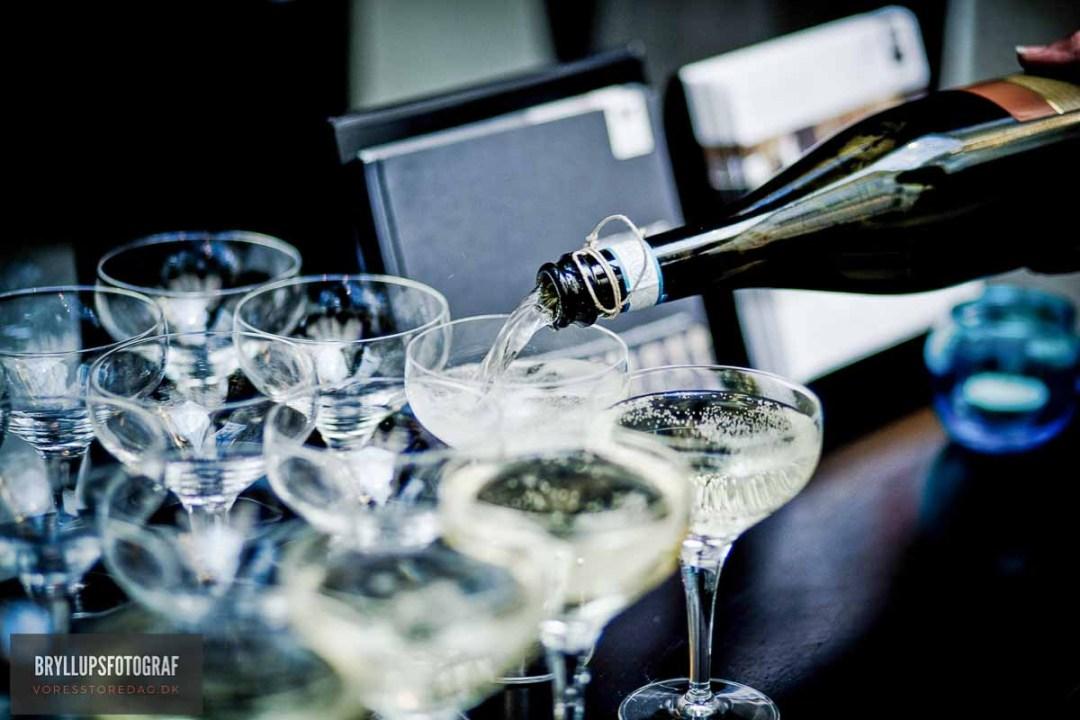 champagne bryllup Fredericia