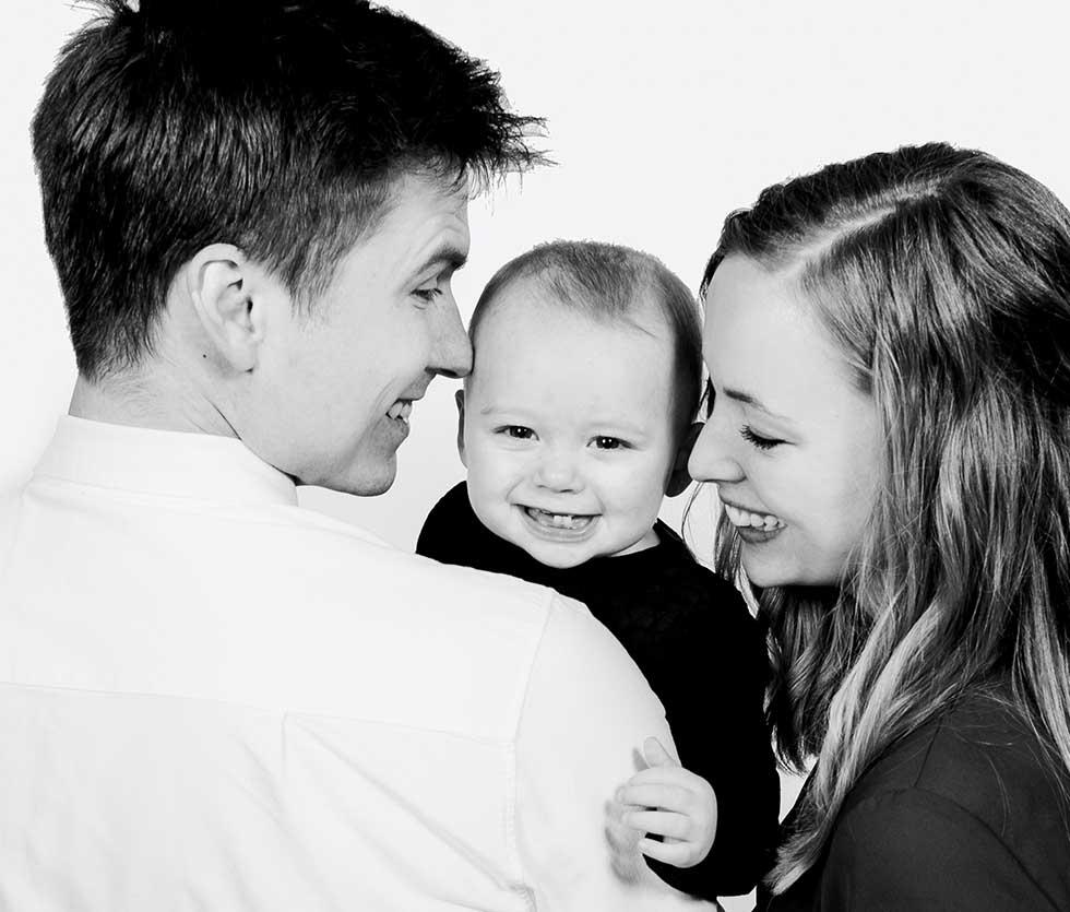 Portrætter af familien, børnene eller den lille ny Herning